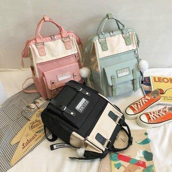 Backpacks for School Teenagers Girls Cute Ring Bag Designer Travel Laptop Backpack Women Notebook Back Pack Patchwork Bagpack - discount item  48% OFF Backpacks