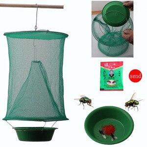 OGFFHH Health 1PCS Pest Control Reusable Hanging Fly Catcher Killer Flies Flytrap Zapper Cage Net Trap Garden Home Dropshipping(China)