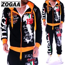 ZOGAA Casual Tracksuit Men Sportwear Sets Brand Clothing Streetwear Tops Pants Fashion Camisetas Hombre 2019 New