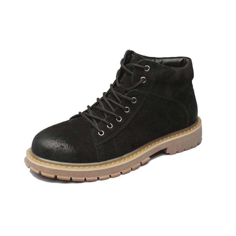 Noir hiver hommes chaussures désert bottes garder au chaud Vintage Culture ailes recrue hommes bois bottes Western moto bottes % 96719