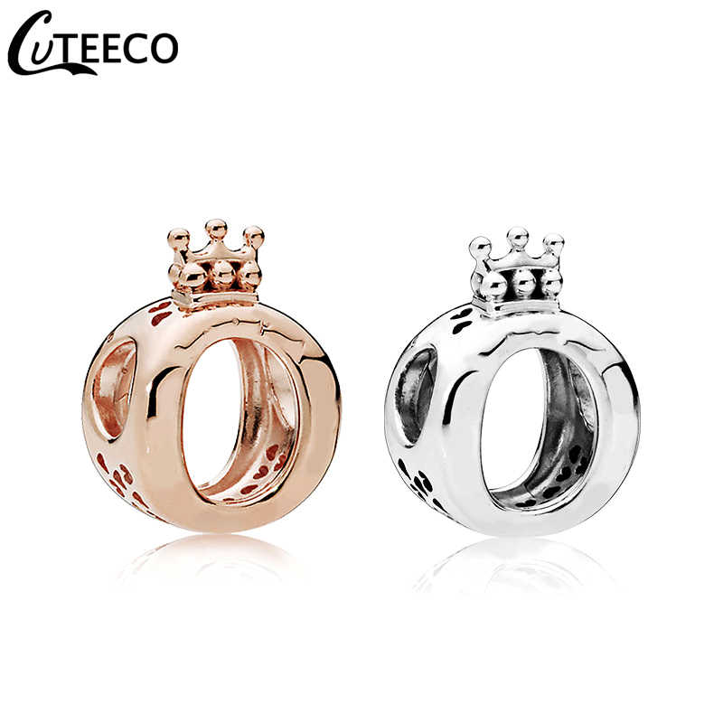 CUTEECO New Alloy Plating Crown Beads Fits Original Pandora Charm Bracelet For Women DIY Handmade Fashion Jewelry Accessories