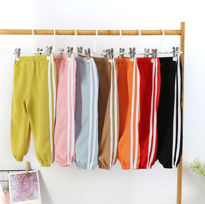 Baby Boys Girls Sports Pants Summer Prevent Mosquito Bites Pp Pants Little Boy Casual Harems Pants Kids Trousers Bottoming Pant
