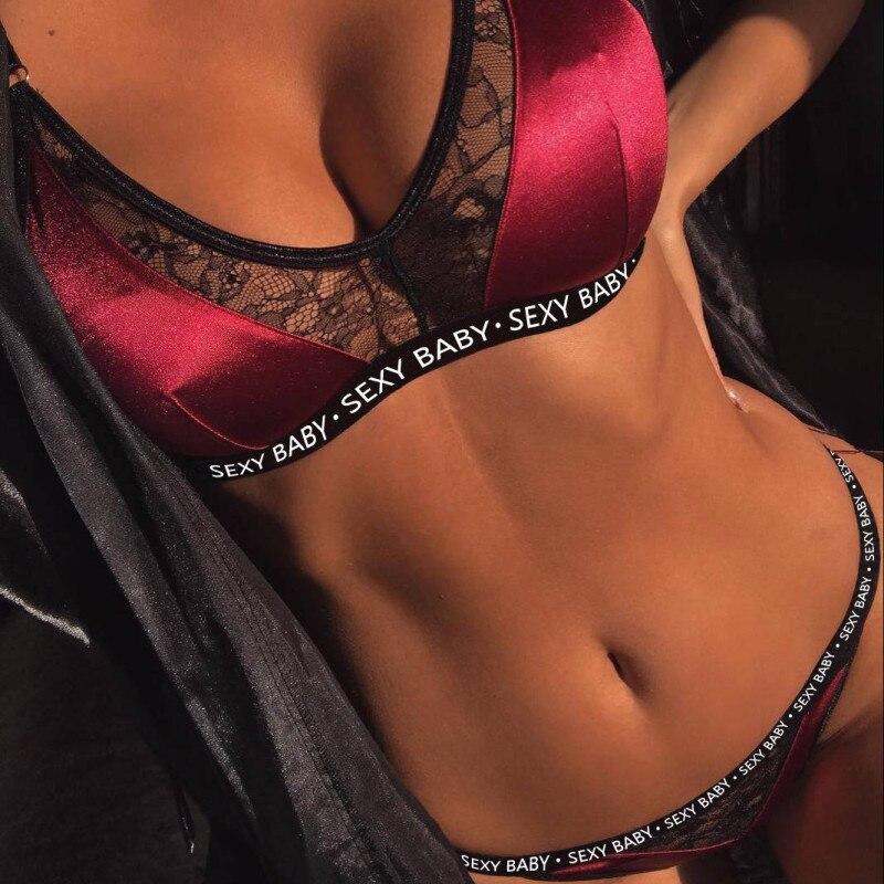 2 sets of bras, no seams embroidered straps, breathable underwear, sexy underwear set 2
