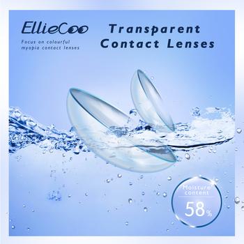 Eliecoo przezroczyste soczewki kontaktowe UItraviolet-Proof Import hydrożele HD komfort przenikanie tlenu miesięczne polerowanie 2 sztuk para tanie i dobre opinie EllieCoo CN (pochodzenie) Etafilcon A 0 06-0 15mm 14 2 20200506 Dwa Kawałki