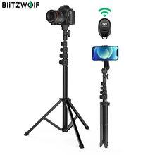 BlitzWolf BW-STB1 kararlı Tripod özçekim sopa kablosuz uzaktan deklanşör çok açılı profesyonel taşınabilir Selfie sopa telefonlar için