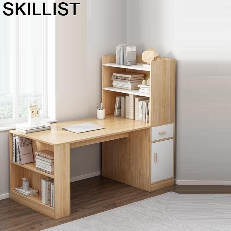 Dobravel Lap Scrivania Ufficio Notebook Bed Tray Office Standing Escritorio Computer Mesa Tablo Laptop Desk Table With Bookshelf