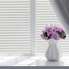Blind-Style Glass-Sticker Window-Film Frosted-Line Stained Privacy Stripe White 45--100cm/60--200cm