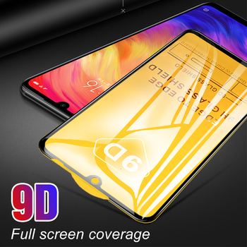100Pcs 9D Curved Tempered Glass For Redmi Note 8 8 Pro 7 6 Note 5A Prime 4 4X Full Glue Full Coverage Screen Protective Film