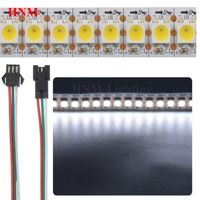 DC5V 144LED s/Pixels/m bande de LED SK6812 (similaire WS2812B) RGBW 4 en 1 IC adressable individuel LED Pixel lumière TV IP20/IP65/IP67