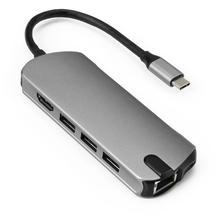 USB C HUB USB3.0 HDMI VGA RJ45 Gigabit Ethernet SD/TF PD ชาร์จอะแดปเตอร์ USB C Docking Station ประเภท C HUB Converter 8 in 1