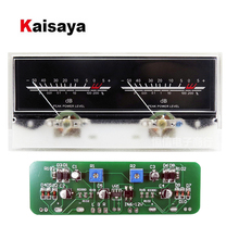 Double pointer VU Meter Stereo Audio Amplifier DB Sound Level Indicator Backlight Adjustable With Driver Board for AMP T0323