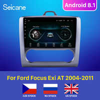 Seicane pour 2004 2005 2006-2011 Ford Focus Exi à Android 8.1 2 DIN 9 pouces GPS Navigation écran tactile Quad-core autoradio 3G