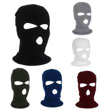 Balaclava Hat Shield Beanie Cap 3 Hole Bicycle Helmet Knit Ski Mask Keep Warm Headwear Snow Outdoor Cycling(China)