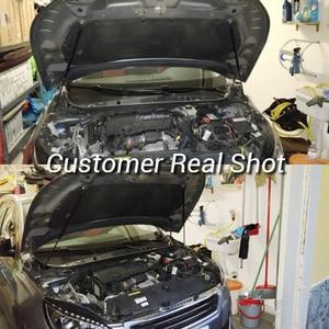 Image 5 - For Peugeot 308 T9 2013 2019 Car Bonnet Hood Support Hydraulic Rod Strut Bars Lift Spring Shock Bracket Car styling