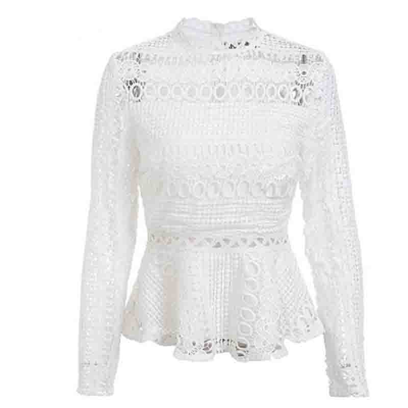 Elegant Lace Hollow Out Blouse 2