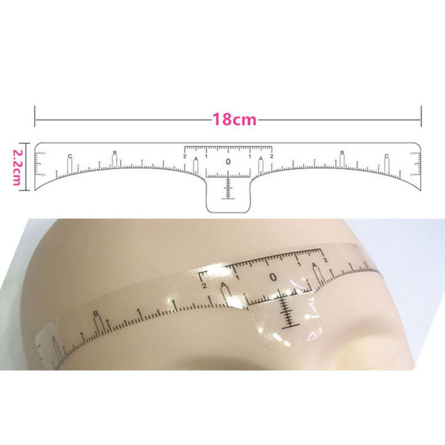 10pcs  Disposable Eyebrow  large Ruler Microblading Accessories Tool Measurement Mark Permanent Makeup Sticker Tattoo Tool Kit 3