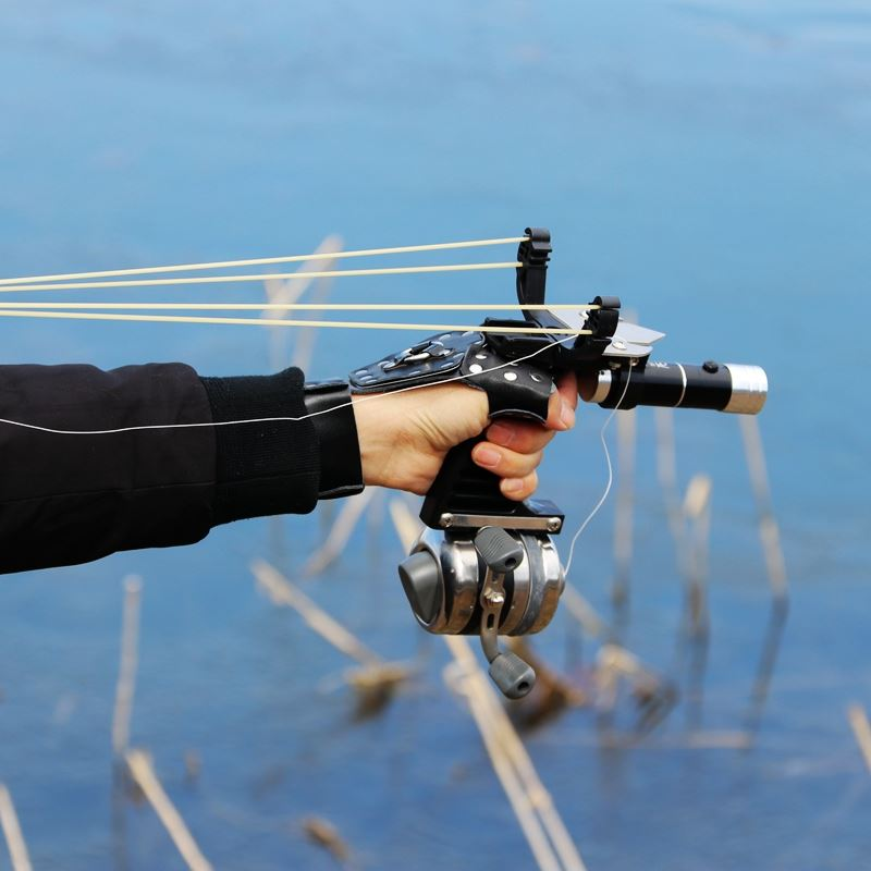 Professional Fishing Slingshot Set Powerful Fishing Catapult Laser Slingshot Super Strong Slingshot Outdoor Hunting Shooting