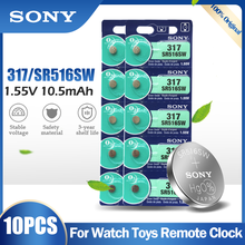 10 adet Sony 317 SR516SW SR516 SR62 V317 D317 GP317 1.55V gümüş oksit pil oyuncak uzaktan kumanda sikke hücresi japonya'da yapılan