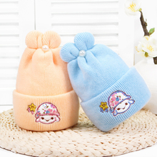 Get more info on the Pearl Rabbit Ear Baby Hats Embroidery Wool Newborn Turban Beanie Warm Caps Soft Hat For Girls Boys Elastic Bonnet Autumn Winter