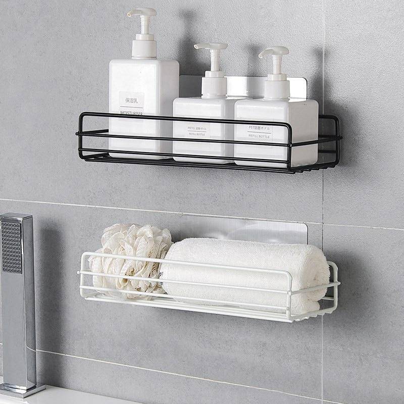 Bathroom Shelf Wall-mounted Toilet Free Punch Storage Toilet Hanging Basket Home Washstand Shelves For Bathroom Storage