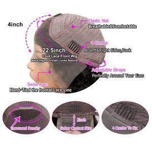 Image 3 - 13x4 תחרה מול פאה מראש קטף רמי מתולתל M ברזילאי שיער אמיתי עלית שיער טבעי לנשים שחורות פרונטאלית קוקו נשים של פאה