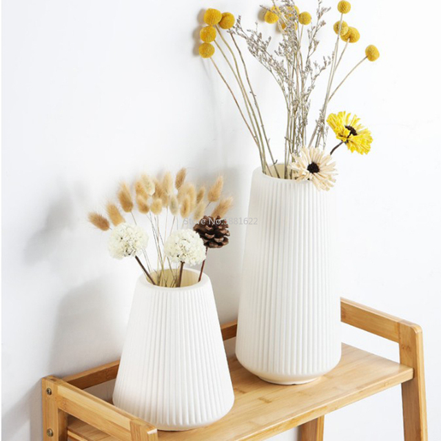 Anti-ceramic Vase 13x20cm  European Home Decorations Plastic Vase Shatter-resistant Wedding Dried Flowers Real Flowers 3