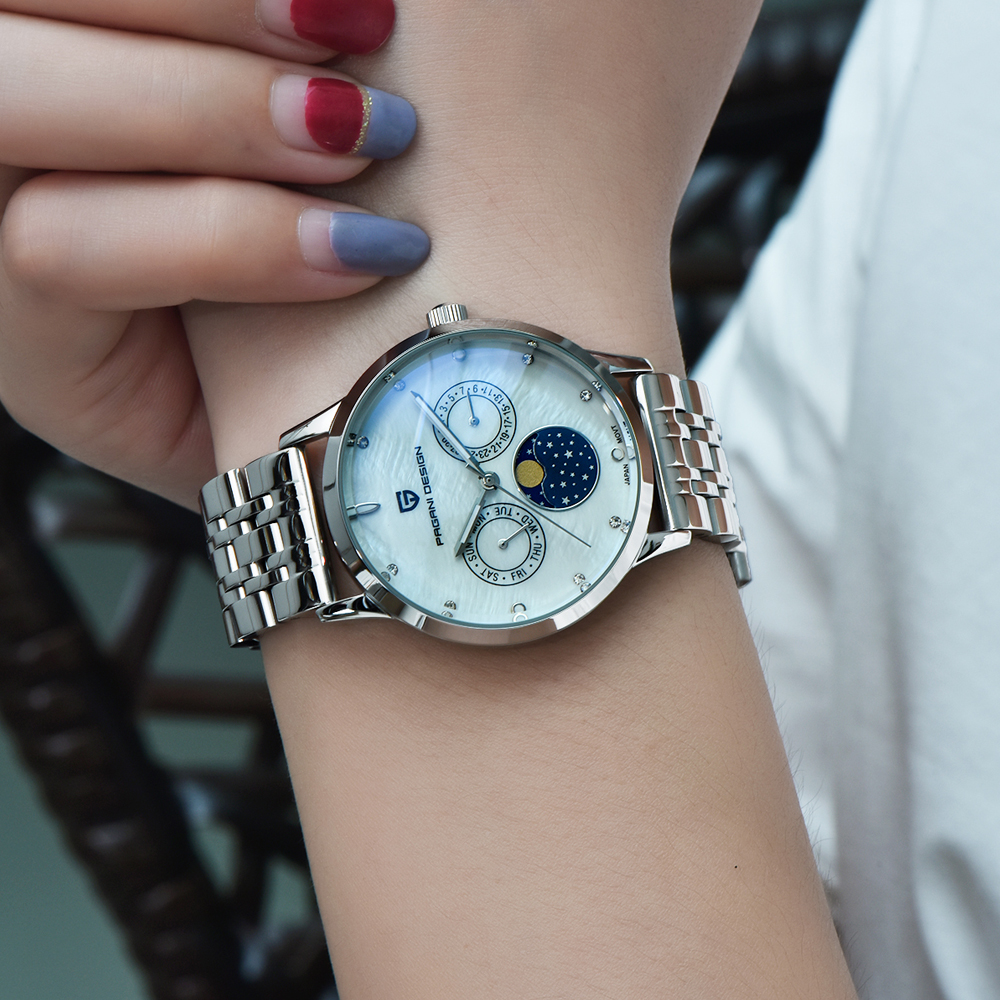 2020 free drop shipping PAGANI DESIGN Brand Lady Fashion Quartz Watch Women Waterproof 30M shell dial Luxury Dress Watches Relogio Feminino xfcs (5)