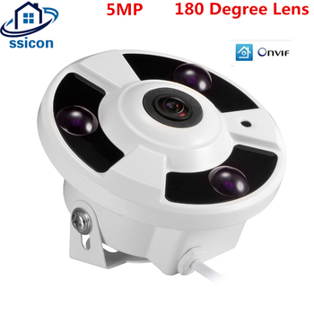 H.265 IP Camera 5MP With 1.7mm 180 Degree Lens Metal Indoor Dome Security Surveillance CCTV Camera POE
