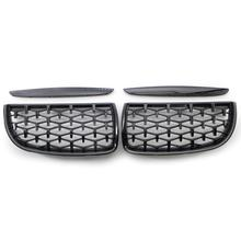 Diamond Edition / Gloss Black Front Kidney Grill Grilles For 3 series E90 E91 Saloon 2005 2008 4D