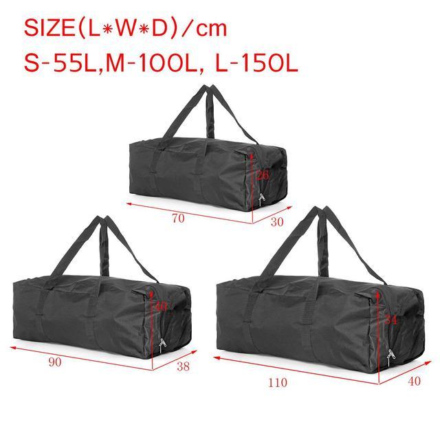 Large Travel Duffel Bag 55L 100L 150L Capacity Travel Duffle Bags Foldable Bag Shoulder Strap