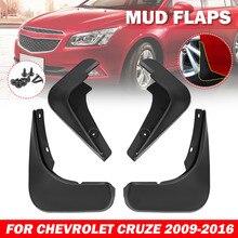 รถด้านหน้าด้านหลัง Mudguards Splash Guards Fender สำหรับ Chevrolet Cruze 2009 2010 2011 2012 2013 2014 2015 2016