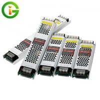 Ultra Thin LED Power Supply DC12V 60W 100W 150W 200W 300W 400W Lighting Transformers Power Adapter Converter for LED Strip Light