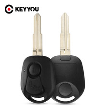 KEYYOU 2 Buttons For SsangYong Actyon Kyron Rexton Replacement Key Case Blank Shell Fob Uncut Blade Replacement Cover