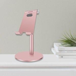 Image 4 - Алюминий Сплав стол настольный держатель для телефона ваш мобильный телефон или планшет, даже во время отдыха на природе Портативный Регулируемая под разными углами настольная подставка
