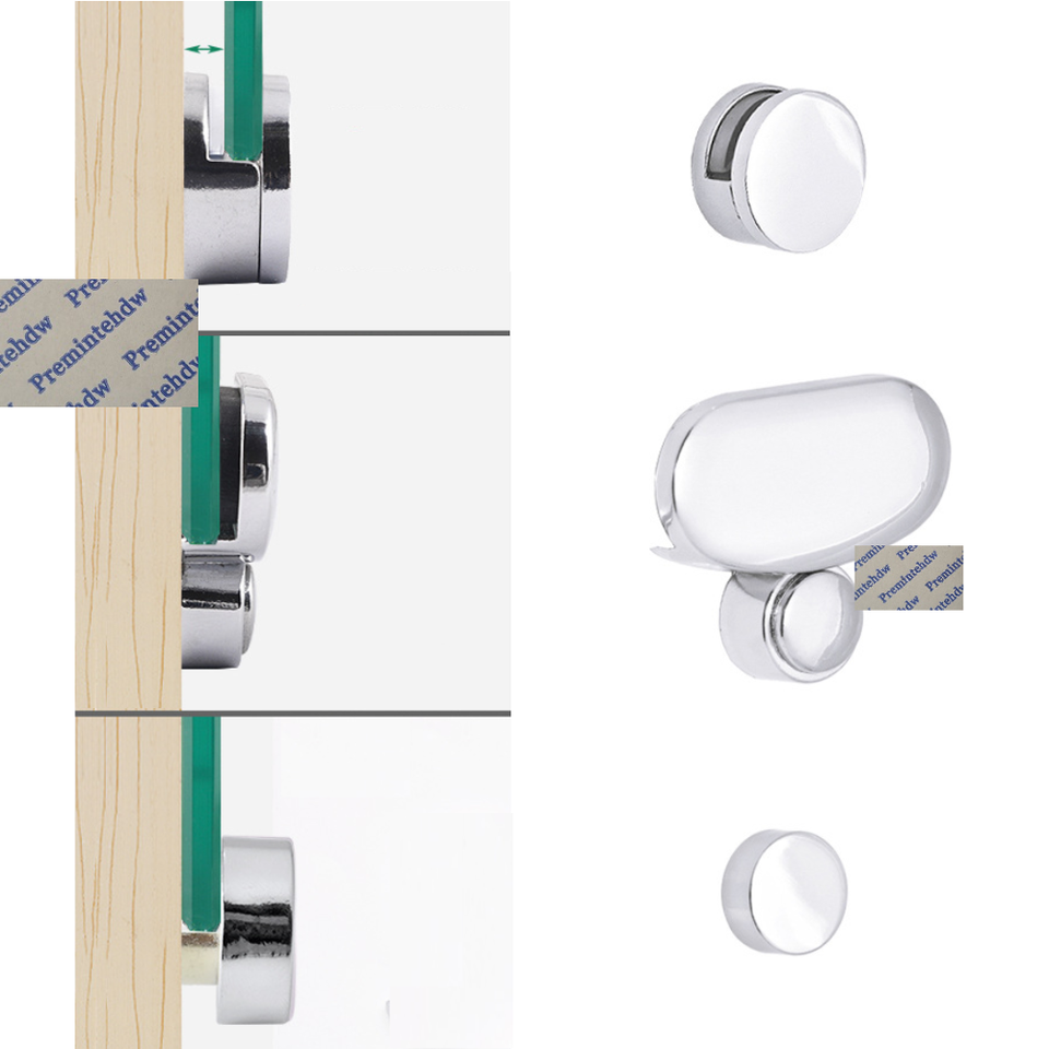 8pcs Lot Zinc Alloy Shiny Chrome Wall Mount Frameless Mirror Glass Acrylic Clip Bracket Clamp Spacer Cut Free Round Oval Shape Mirror Clips Glass Mounting Clipsglass Clip Aliexpress
