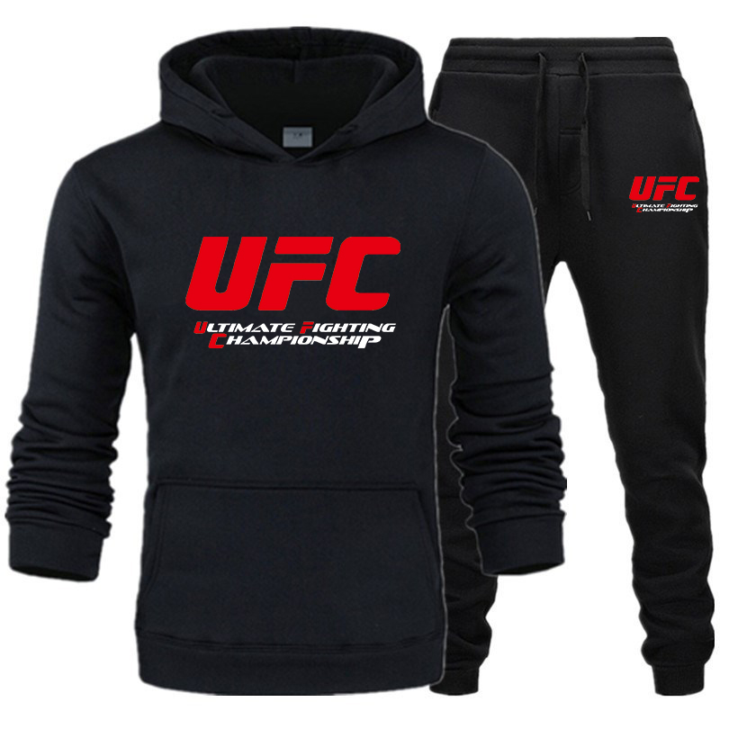 UFC Mens Hoodie Jogging Suit Pullover Pants Bottoms Tracksuit Set Sportswear Hot