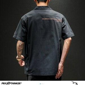 Image 5 - Privathinker男性サファリスタイルシャツストリート2020メンズ日本シャツカジュアル韓国男性ビッグポケットシャツ夏特大