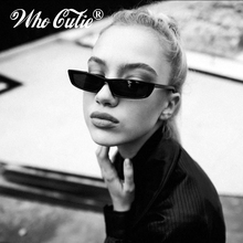 WHO CUTIE 2018 Women Vintage Small Rectangle Sunglasses Kend