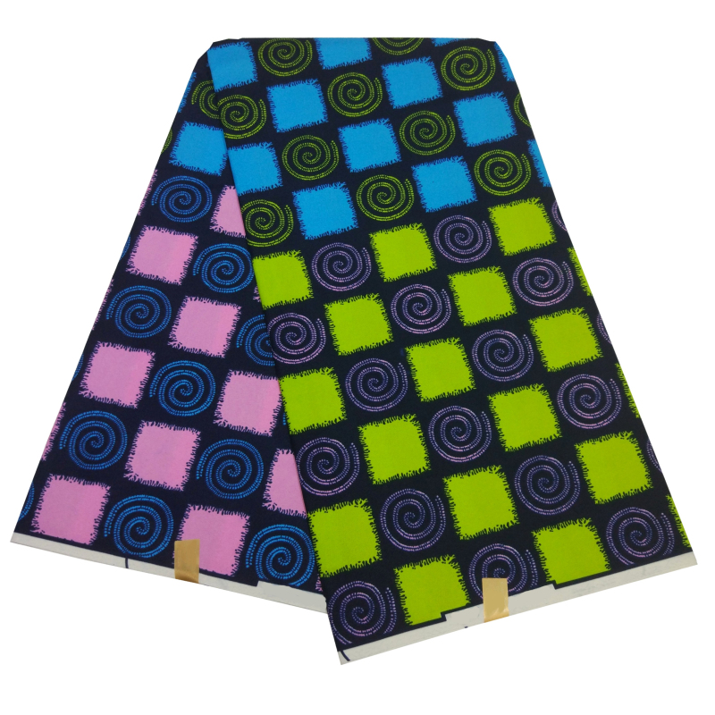 Veritable Wax African Ankara Polyester Meterial Fabric 6 Yards/Piece New Fashion Guaranteed Real Wax African Fabric