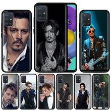 johnny depp Case For Samsung Galaxy A51 A71 A01 A81 A91 A50 A70 A70s M31 Black Silicone Phone Cover Fundas