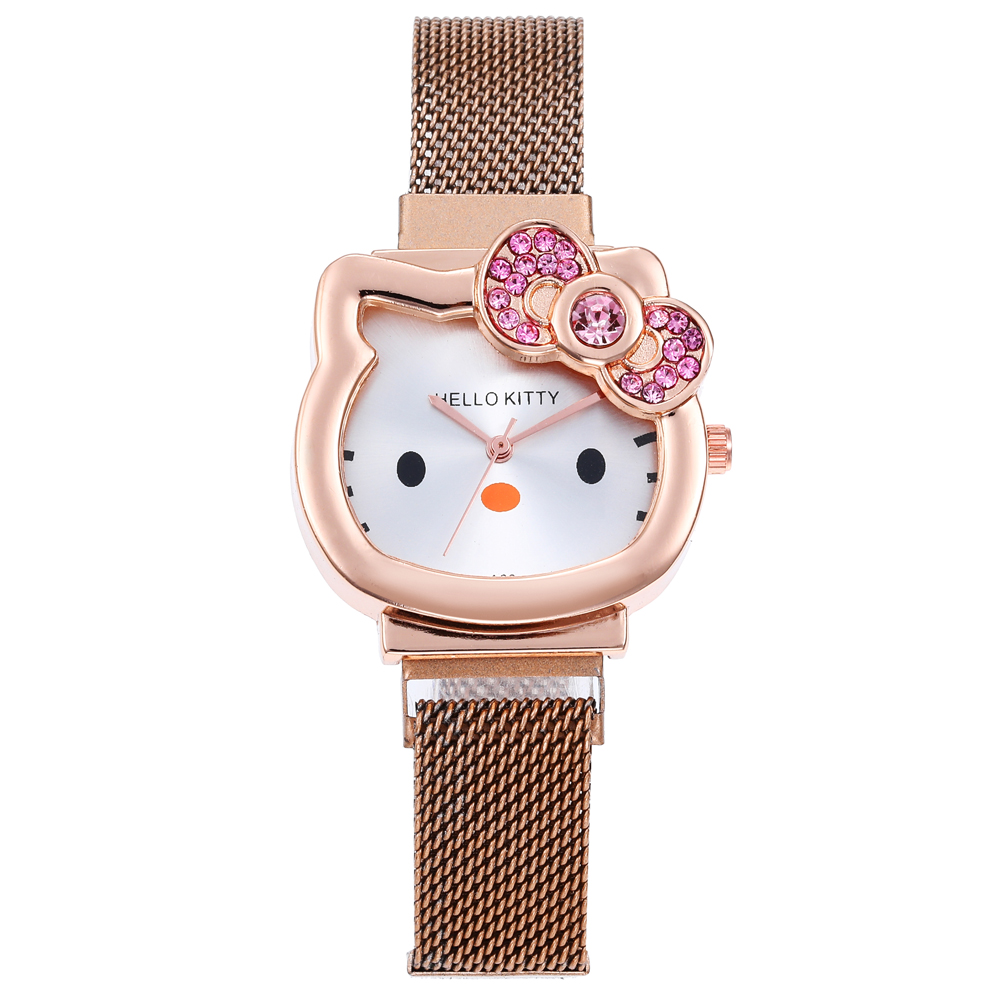 Fashion Simple Women Watches Ladies Watch Cute Cat Dial Magnet Buckle Alloy Watch Rose Gold Clock часы женские Reloj Mujer Saat