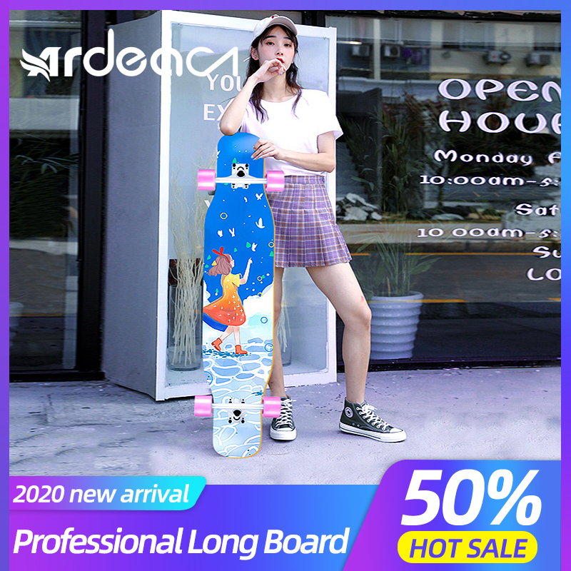 ARDEA Long Board Dancing Russia Maple Skateboard Deck Longboard Trucks Boy And Girl Beginner Skate Board Personalized Custom