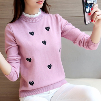 Peonfly Women Turtleneck Sweater Solid Color Embroidery Cartoon Panda Bear Cute Streetwear Pullovers Knitted Female Clothes Tops 1