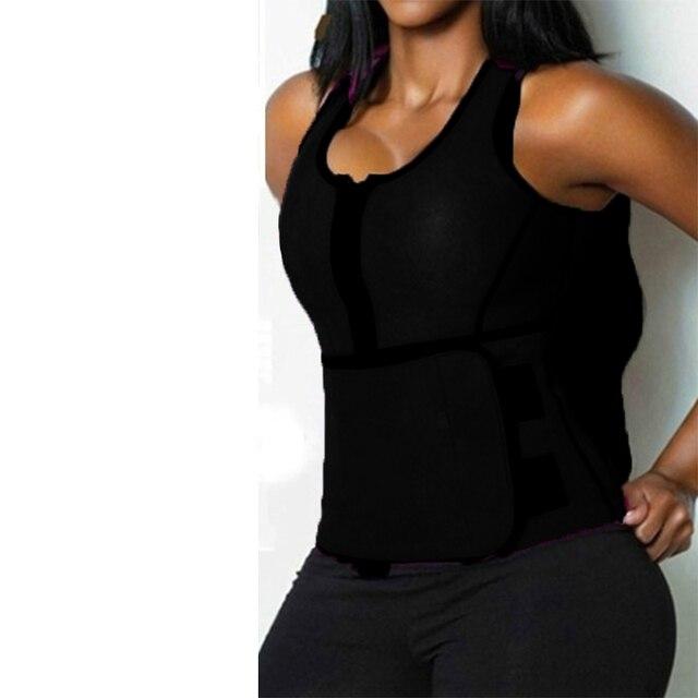 Women Body Shaper Vest Tank Plus Size Belly Belt Sweat Trainer Shaper Corset Waist Workout Adjustable Slim Female Shapewear 5