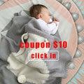 1 шт.  детское одеяло  детское одеяло для пеленания  вязаное одеяло для ребенка  кролик  мультяшный плед  постельные принадлежности для малыш...