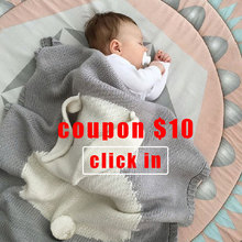 1pc Baby Blankets Swaddle Baby Wrap Knitted Blanket For Kid Rabbit Cartoon Plaid Infant Toddler Bedding Swaddling Let's Make
