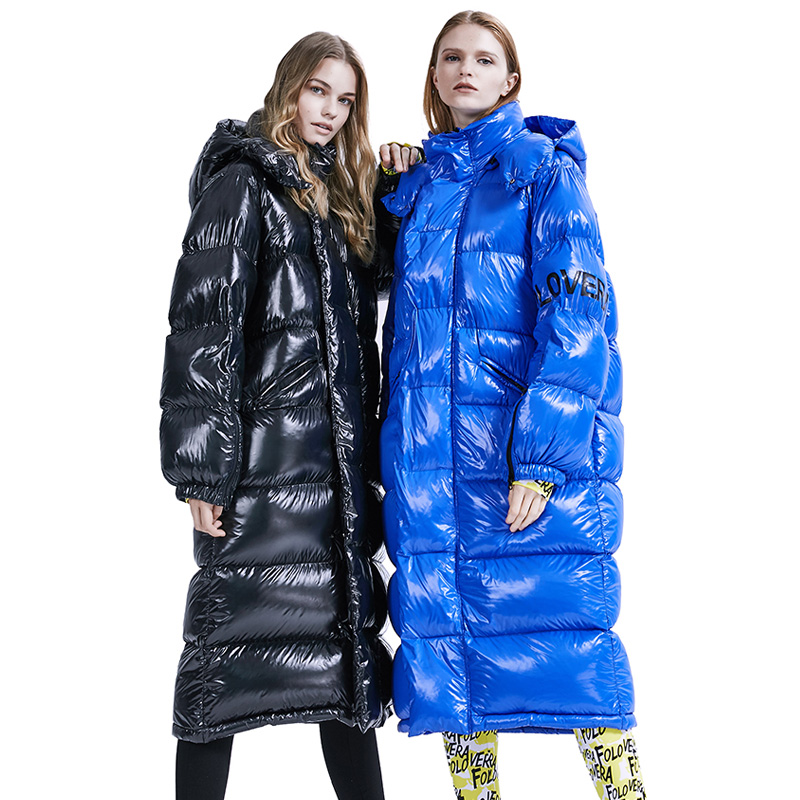 Winter Coat Women Snow Clothes 90% White Duck Down Women Winter Jacket Loose Long Female Parka Puffer Jacket Oversize Feather