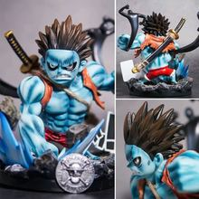 23 см цельная экшн фигурка голубого Луффи gk статуя кошмарная