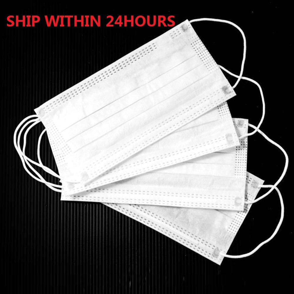 10/20/50/40/100/200pcs 3 Layers Mask Dustproof Anti-fog Disposable Masks Non Woven Mouth Muffle Personal Protective Equipment