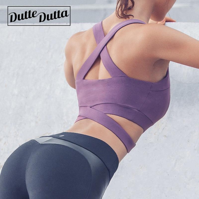 Women Sport Bra Top Crisscross Padded Yoga Brassiere Gym Bra Top Fitness  Sports Bra Dutte Dutta  Female Workout Tank Top
